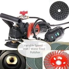 "5"" Variable Speed Wet Polisher Grinder Lapidary Tile Marble Stone Granite Cement"
