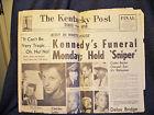 John F. Kennedy Assassination Announcement Kentucky Times & Star 11/23/63 EUC