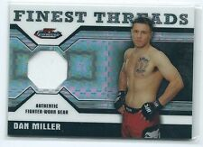 2011 Topps UFC Finest Dan Miller Finest Threads FIGHT USED GEAR RELIC 72/188 MMA