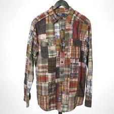 LNWOT Polo Ralph Lauren Indian Madras Batik Floral Overlay Patchwork Shirt L NR