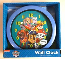 Paw Patrol Wall Clock Quartz Blue Room Decor New Chase Marshall Sky