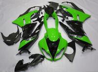 Fairing Kit For Kawasaki Ninja ZX6R 2009 2010 2011 2012 Green Black ABS Bodywork