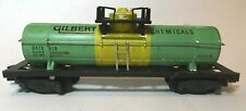 American Flyer No. 910 Gilbert Chemical Single Dome Tank Car w Die Cast Frame