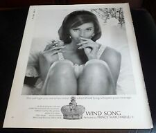 1967 WIND SONG Perfume by PRINCE MATCHABELLI Vintage Print Ad MAN CAVE ART