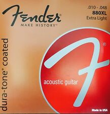 Fender 880XL Dura-Tone Coated Acoustic Guitar Strings gauges 10-48
