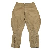 Vintage WW1 US Army Breeches Jodhpurs Trousers Enlisted Mans Cotton Khaki USA