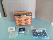 Longaberger Collector's Club Whistle Stop Basket w/liner, protector, tie-on, box