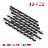 10x Stiftleiste 2x40 Präzision 2.54 mm trennbar gerade fein dünn präzise Stecker