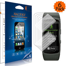 6X Nacodex HD Screen Protector Shield Guard Film For Samsung Galaxy Fit2 / Fit 2