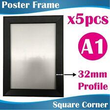 5 A1 Heavy Duty Black Square Corner Snap Frame/poster Frame/picture Frame 32mm