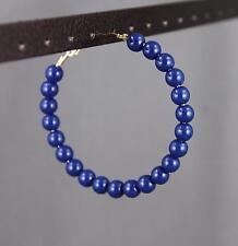 Navy Blue beaded hoop earrings 2 1/8 inch wide door knocker Big huge hoops