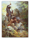 White Man Fire Sticks - by Howard Terpning -  giclee on canvas