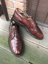 Mens Johnston&Murphy Size 10 Brown Leather Oxfords Derby LaceUp Dress Casual-241