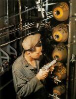 COLOR WW2  Photo, Bomb Fusing WWII B-17 B-24 B-25 B-29  World War Two USAAF