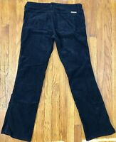 Juicy Couture Women's Corduroy Straight Leg Pants Tag Size 32 Actual 34x32 Black