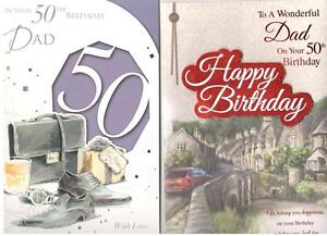 50th Birthday Card For Dad Various Designs To Choose From.