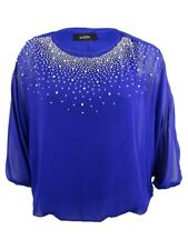 Womens Ladies Diamante Bow Back Dip Hem Casual BATWING Top Dress Plus Size 14-26