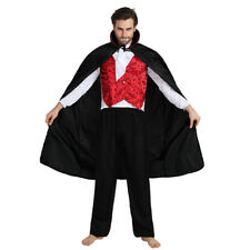 Men's Vampire Dress Up Count Dracula Costume Cosplay Halloween Party Outfit