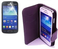 Wallet Schutzhülle f Samsung Galaxy Ace 3 S7270 S7275 Case Tasche violett lila