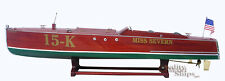 "Miss Severn Handcrafted Wooden Model Boat 32"" ready for display"