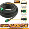 Garden Porous Soaker Hose Automatic Drip Leaky Watering System Irrigation 15/30M