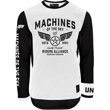 UNIT 2019 AIRBOURNE WHITE MOTOCROSS JERSEY LARGE
