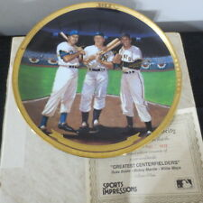 Mickey Manlte Willie Mays Duke Snider 1989 Sports Impressions 10 in Plate
