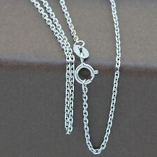 Genuine 18CT Solid White Gold Carter Chain 45cm Italy Made