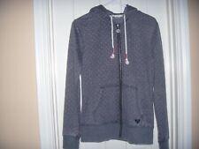 Roxy Women's full zip Hoodie jacket sweatshirt drawstring Medium