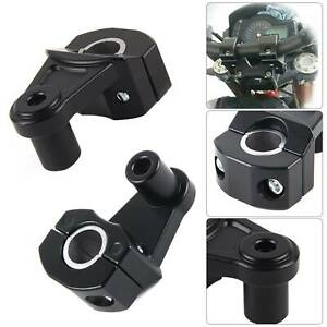 2x Universal 7/8'' 22mm Motorcycle HandleBar Handle Fat  Mount BarClamps Riser