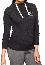 NEW Nike Women's Sportswear Gym Vintage Hoodie Long Sleeve Lightweight Black, XS