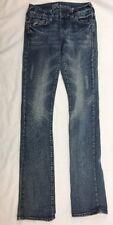 Delias Juniors Reese Stretch Boot Cut  Distressed Denim Jeans Size 00 R 22x31.5