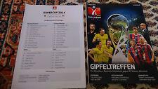 Programm + Aufstellung Supercup Borussia Dortmund - FC Bayern München 13.08.2014