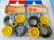 NEW 4 x Never Used 1/12 Tamiya Porsche 959 Rally Tires + Rims 5308