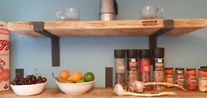 Rustic Reclaimed Solid Wood Shelve Shabby Shelf Industrial Made To Order New