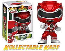 Power Rangers - Metallic Red Ranger Action Pose Pop! Vinyl Figure