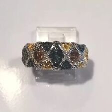 Diamond (.70) Multi Color Ring, 14K, YG & RG, White Gold SS .925 Size 9