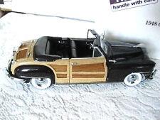 Danbury Mint, 1948 Chrysler, Town Country Convertible, 1:24 Diecast Car New #Cr