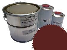 1,5 Set Litre 2K Revêtement de sol RAL 3009 Oxidrot Glanz Peinture Atelier
