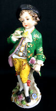 "4.5"" ADORABLE ANTIQUE SITZENDORF YOUNG BOY FIGURINE FINE DETAIL GERMANY GERMAN"