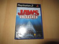 PS2 JAWS UNLEASHED , PAL Reino Unido, NUEVO & Sony PRECINTO DE FÁBRICA