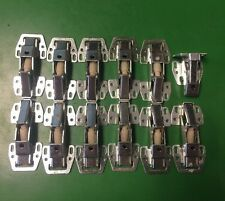 Lot  Of 12 Inset Soft Close Cabinet Hinges Clip On Hydraulic European Cabinets