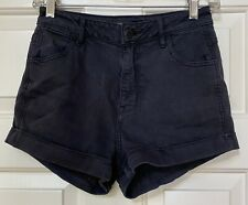 Kendall & Kylie, cotton blend, cuffed shorts, size 25, black