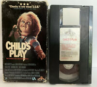 Child's Play United Artists 1989 VHS Original First Print Horror Slasher Chucky