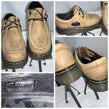 Doc Martens 8349 Shoes Sz 9Men UK Beige Leather Moc Toe Mint YGI J0S-76