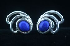 Tiffany & Co. Blue Lapis Lazuli and Silver earrings Large