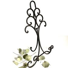 EUC Wrought Iron Easel Stand Book Plate Art Picture Display Black