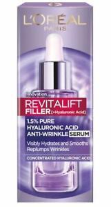 NEW - L'Oreal Revitalift FILLER AntiWrinkle 1.5% Pure Hyaluronic Acid Serum 30ml