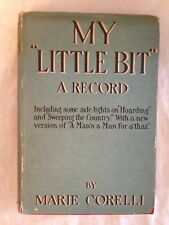 Marie Corelli - My Little Bit - 1st/1st 1919 Collins in Rare Original Jacket