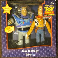 BRAND NEW DISNEY PIXAR TOY STORY BUZZ LIGHTYEAR & WOODY TWIN PACK NIB VHTF